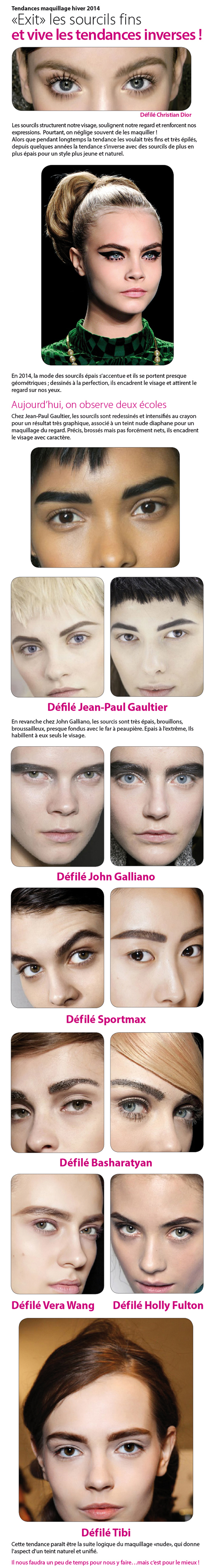 tendance maquillage hiver 2014